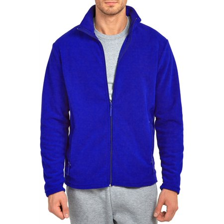 Mechaly Men Classic Full Zip Long Sleeve Polyester Polar Fleece Jacket