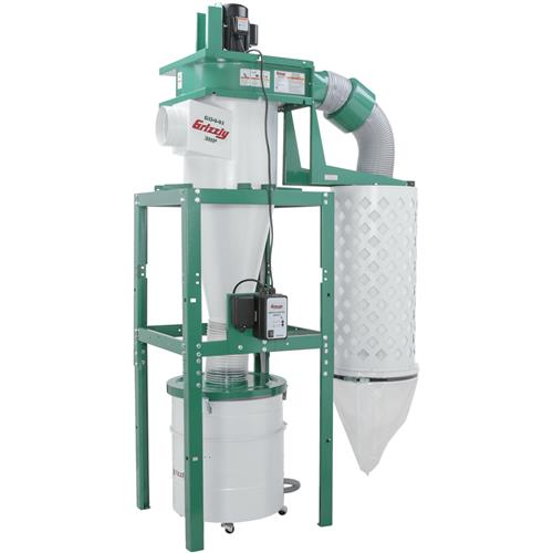 Grizzly Industrial G0441 3 HP Cyclone Dust Collector by Grizzly