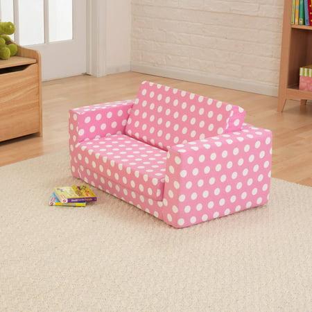 KidKraft Lil Lounger - Pink with White Polka Dots - 18608 - Walmart.com