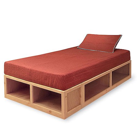 Natural Twin Bed With Storage Walmart Com