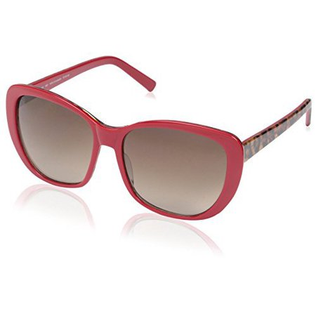 SOCIETY NEW YORK Women's Soft Square Sunglasses, Red, (Society Sunglasses)