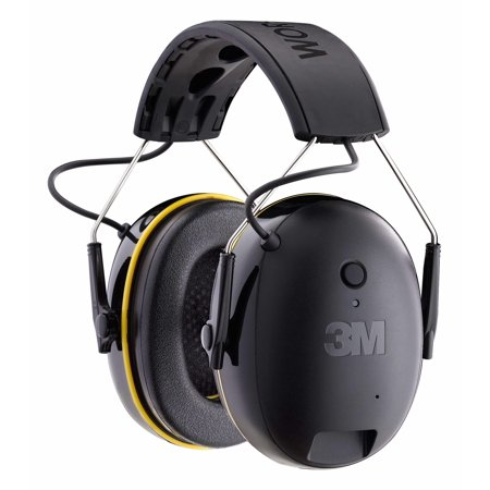3M WorkTunes Connect Hearing Protector with Bluetooth Technology, Built-In Rechargeable Battery, Audio/Voice