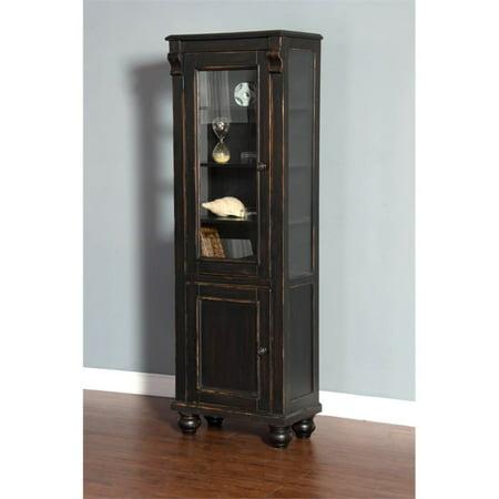 Sunny Designs Curio Cabinet in Black