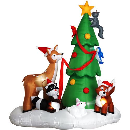 Gemmy Woodland Critters Decorating Christmas Tree Christmas Decor ...