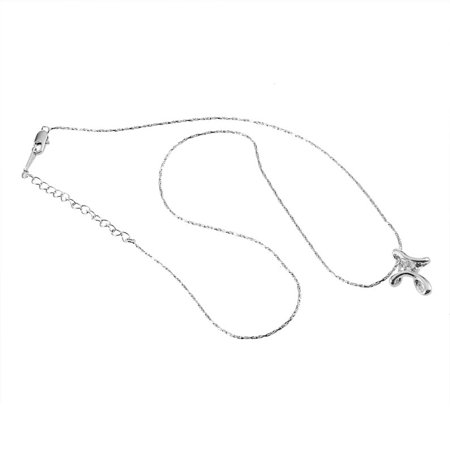 Platinum Plated Charm - Hot Sale 18K Charm White Gold Plated Platinum Plated Rhinestone Crystal Cross Necklace Pendant Fashionable Women Christmas Gift