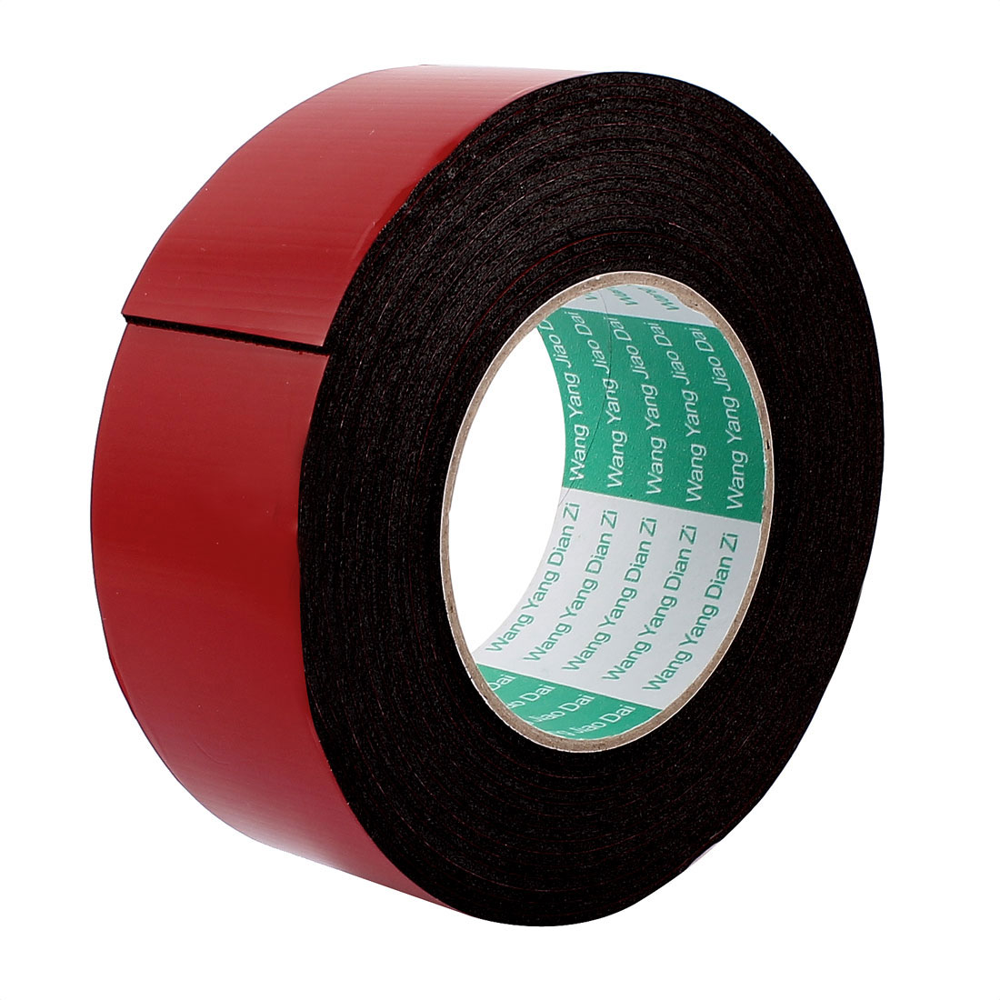 5M 16.4ft Long 45MM Width Red Black Strong Dual Sided Adhesive Tape Sponge Tape