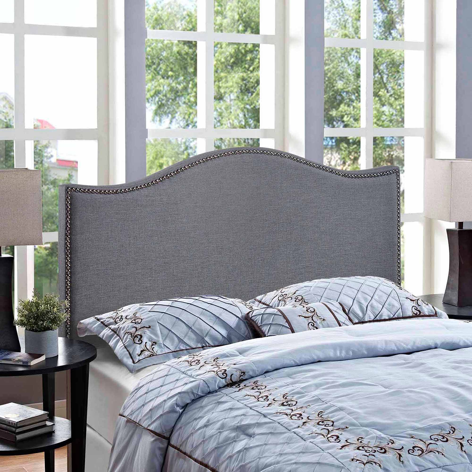 modway curl queen nailhead upholstered headboard multiple colors walmartcom