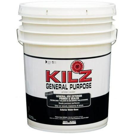 Kilz General Purpose Exterior Primer and Sealer, 5 gal - Walmart.com