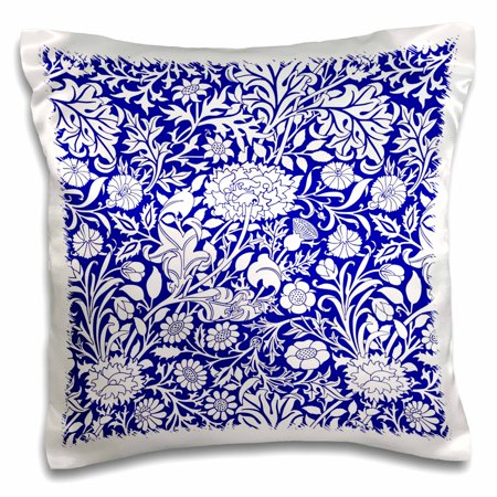 Victoria Chintz (3dRose William Morris Cherwell Chintz Pattern in royal blue and white - Pillow Case, 16 by 16-inch )