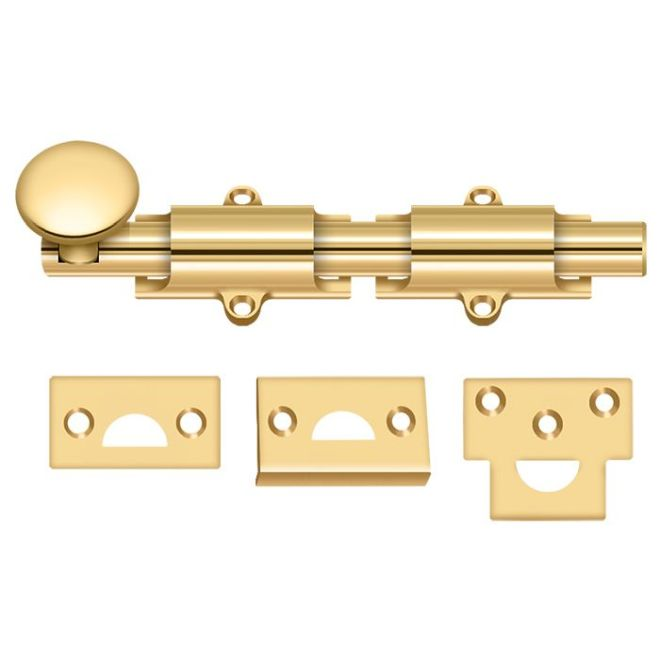 Deltana 12SBCS5 Hd Concealed Screw Solid Brass 12-Inch Surface Bolt