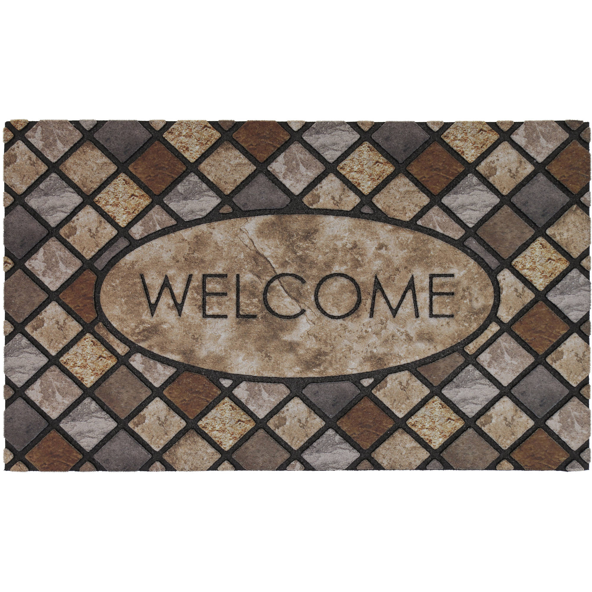 Mohawk Home Oval Stone Outdoor Mat