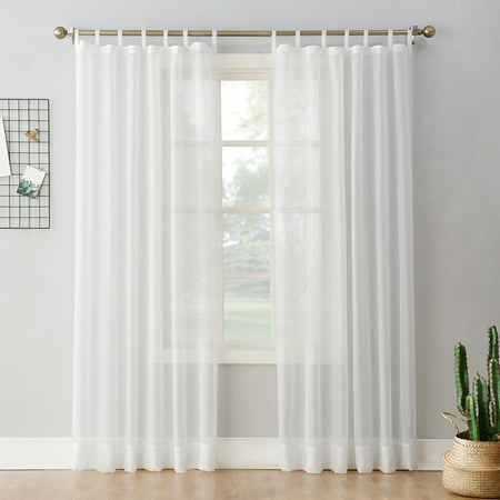 - No. 918 Emily Sheer Voile Tab Top Curtain Panel