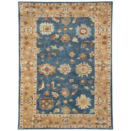 Dynamic Rugs Charisma 1409 Reverse Border Persian Rug - Mediterranean Blue