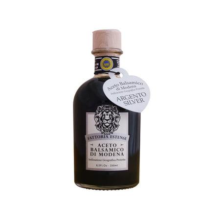 Fattoria Aged Wine (Fattoria Estense Silver Label, Farmacia Style Bottle (Previously labeled as Aceto Balsamico di Modena, Aged 10 years))