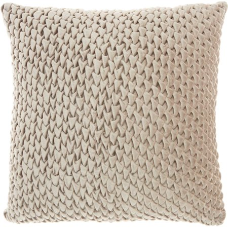 Beige Pillow - Nourison Life Styles Beige Decorative Throw Pillow , 18