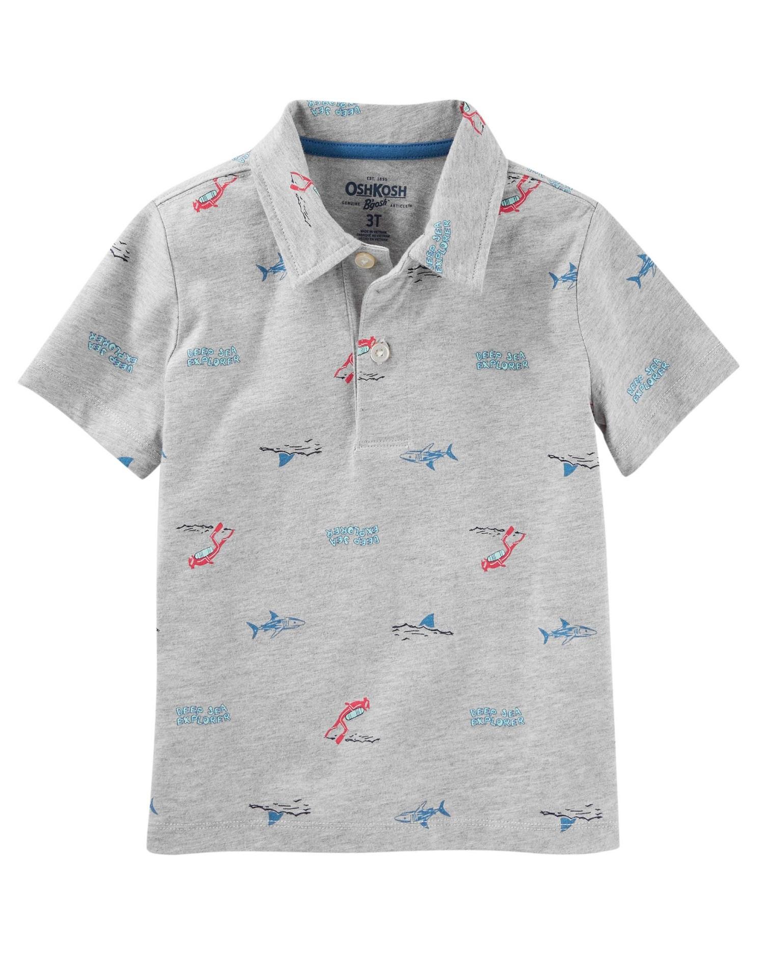 OshKosh B'gosh Little Boys' Scuba Diver Jersey Polo