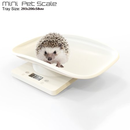 Outtop Plastic Electronic Digital Baby Pet Scale HD LCD Measure Tool Accurately 1g-10k