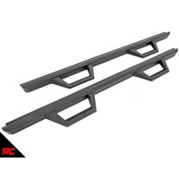 Rough Country Nerf Bar Hoop Steps compatible w/ 2020 Jeep Gladiator Truck Drop Side Steps Running Boards