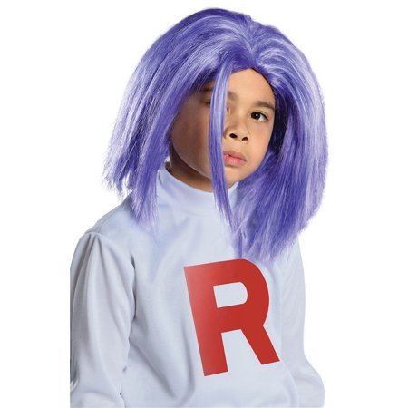 Pokemon James Blue Costume Wig Child One Size ()
