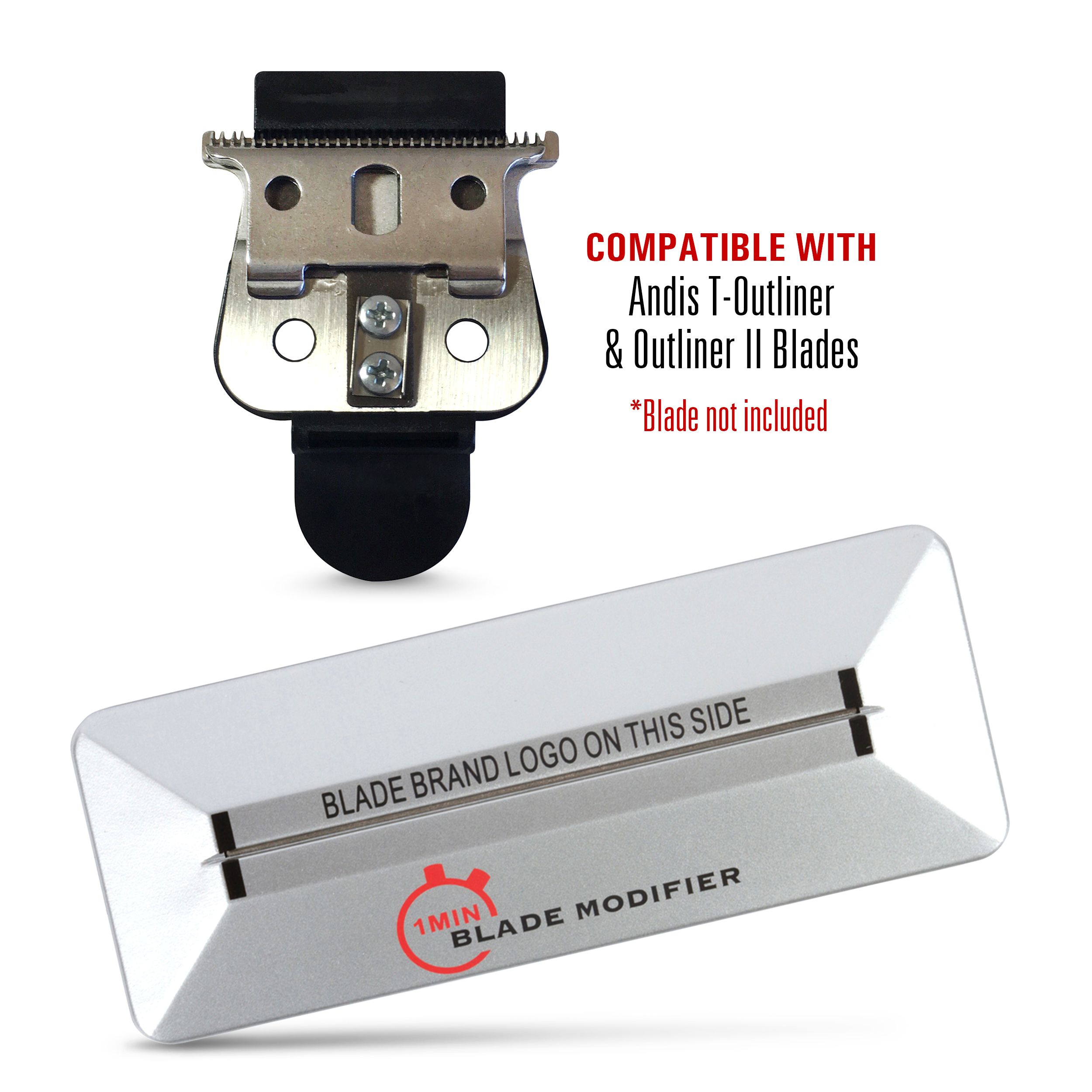 1 Min Blade Modifier and 10 Sec Blade Setter Combo Set | On The Money Zero Gap Tool Compatible with Andis T OUTLINER Blades | The Key to The Sharpest Lines and Closest Shaves | by The Rich Barber