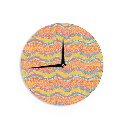 East Urban Home Nandita Singh 'Pink Waves' 12'' Wall Clock