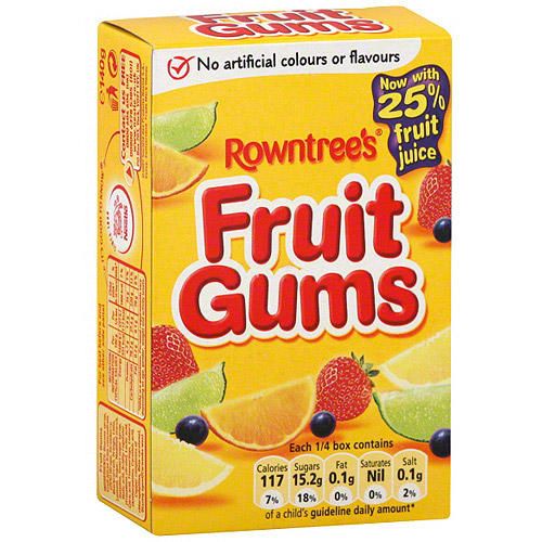 Rowntree's Fruit Gum, 4.4 oz (Pack of 18)