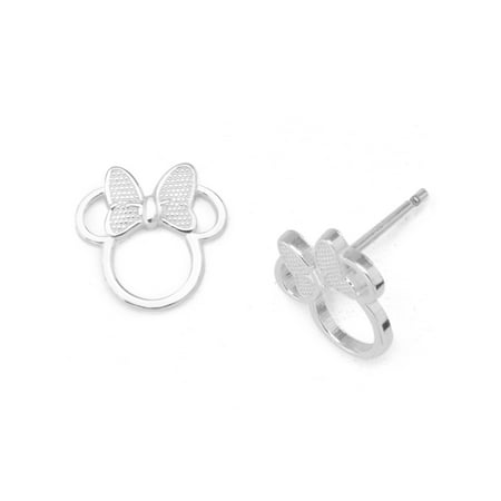 Tiffany Silver Stud (Disney Sterling Silver Minnie Mouse Stud Earrings)