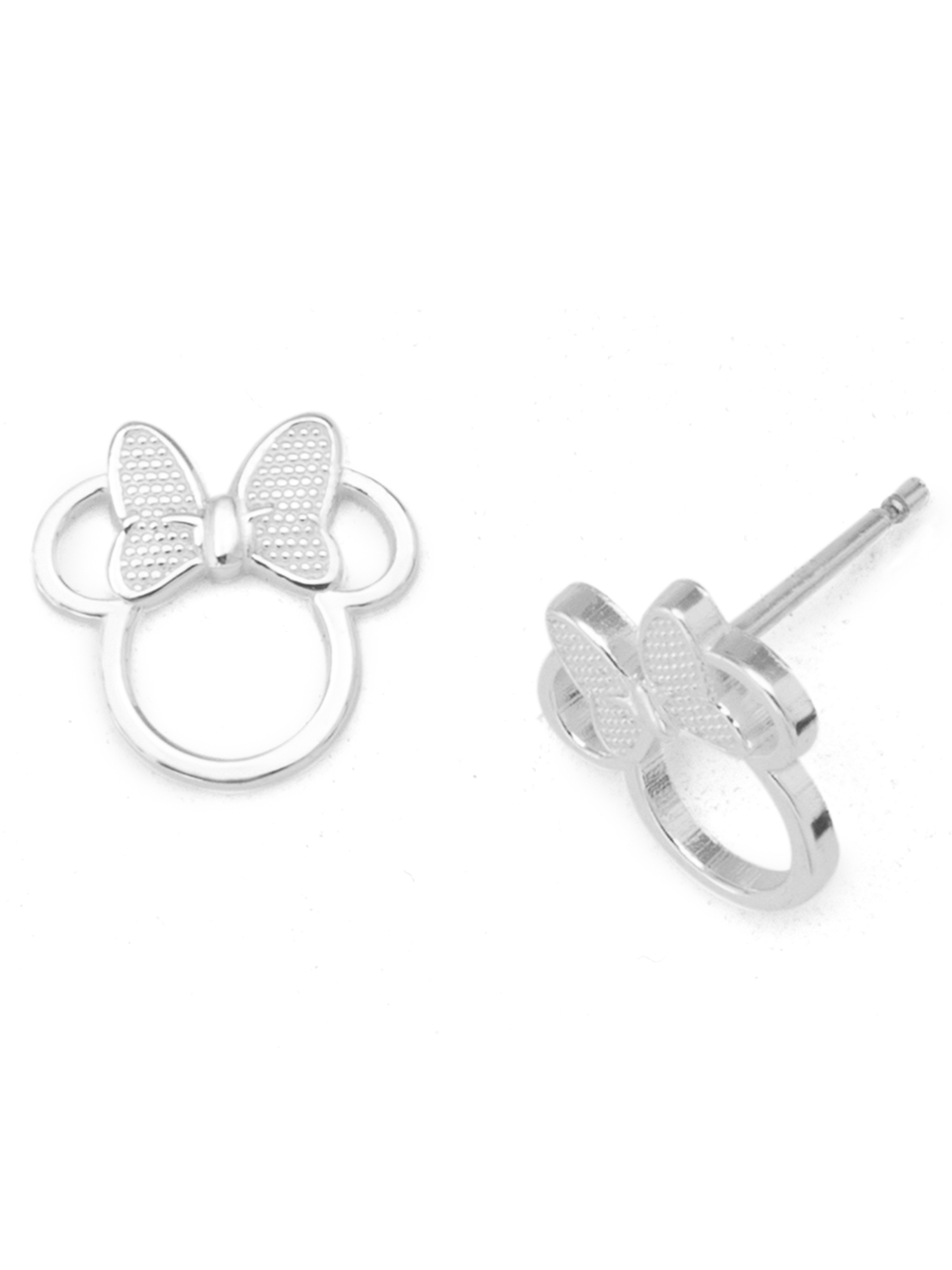 Disney Sterling Silver Minnie Mouse Stud Earrings