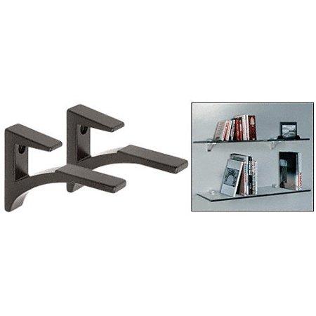 Black - Aluminum Glass Shelf Bracket for 5/8