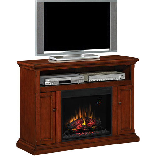 ChimneyFree Media Fireplace, Cherry