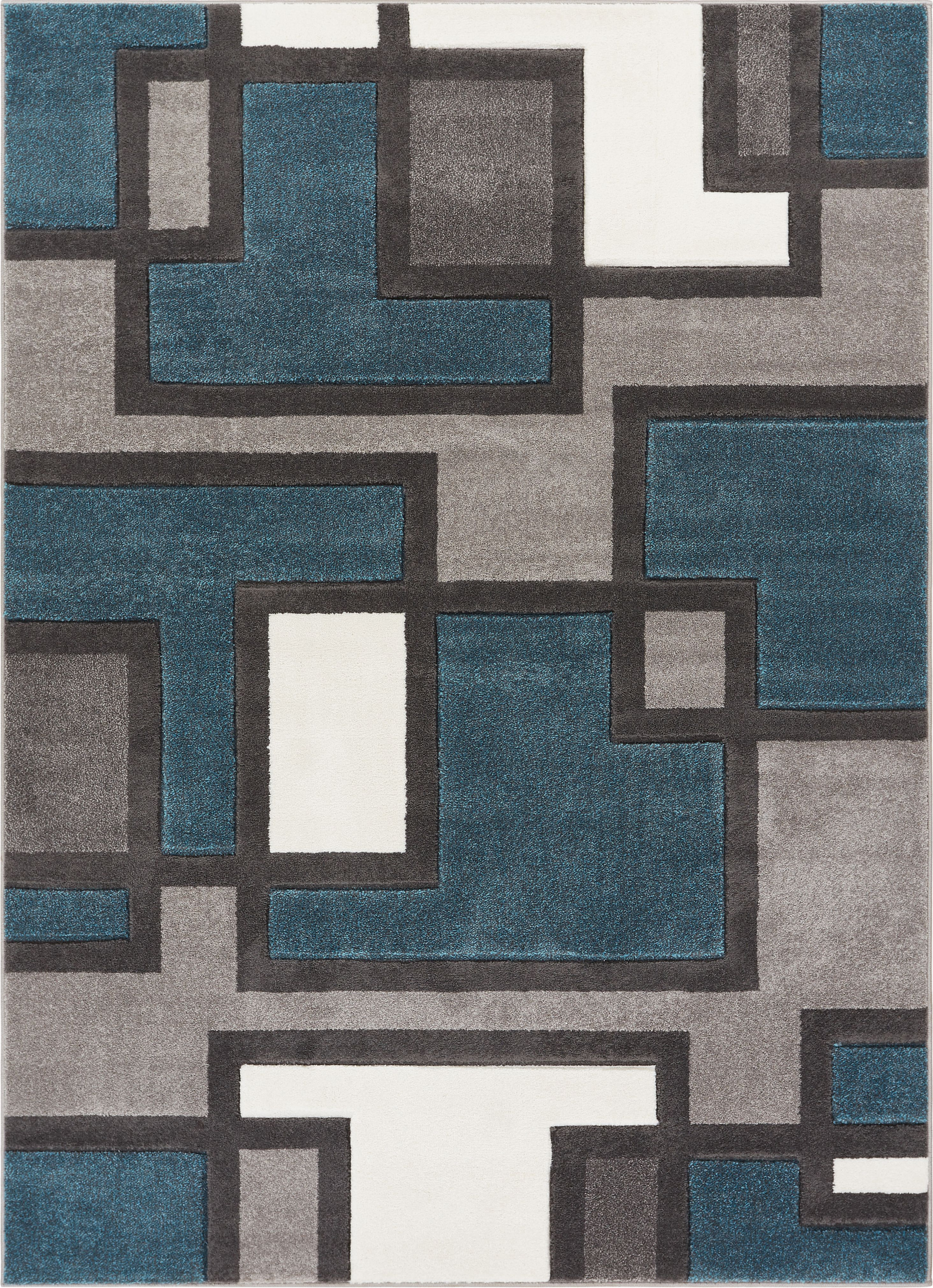 Uptown Squares Blue Amp Grey Modern Geometric Comfy Casual