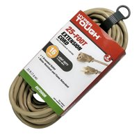Hyper Tough 25FT 16AWG 3 Prong Tan Single Outlet Outdoor Extension Cord