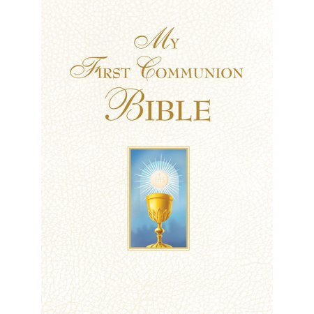 First Communion Glass - My First Communion Bible (White)