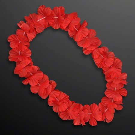 Hawaiian Flower Lei Necklace Red by Blinkee (Hawaiian Flower Necklace)