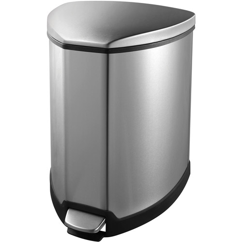 5L Grace Step Bin Stainless Steel Trash Can by Household Essentials