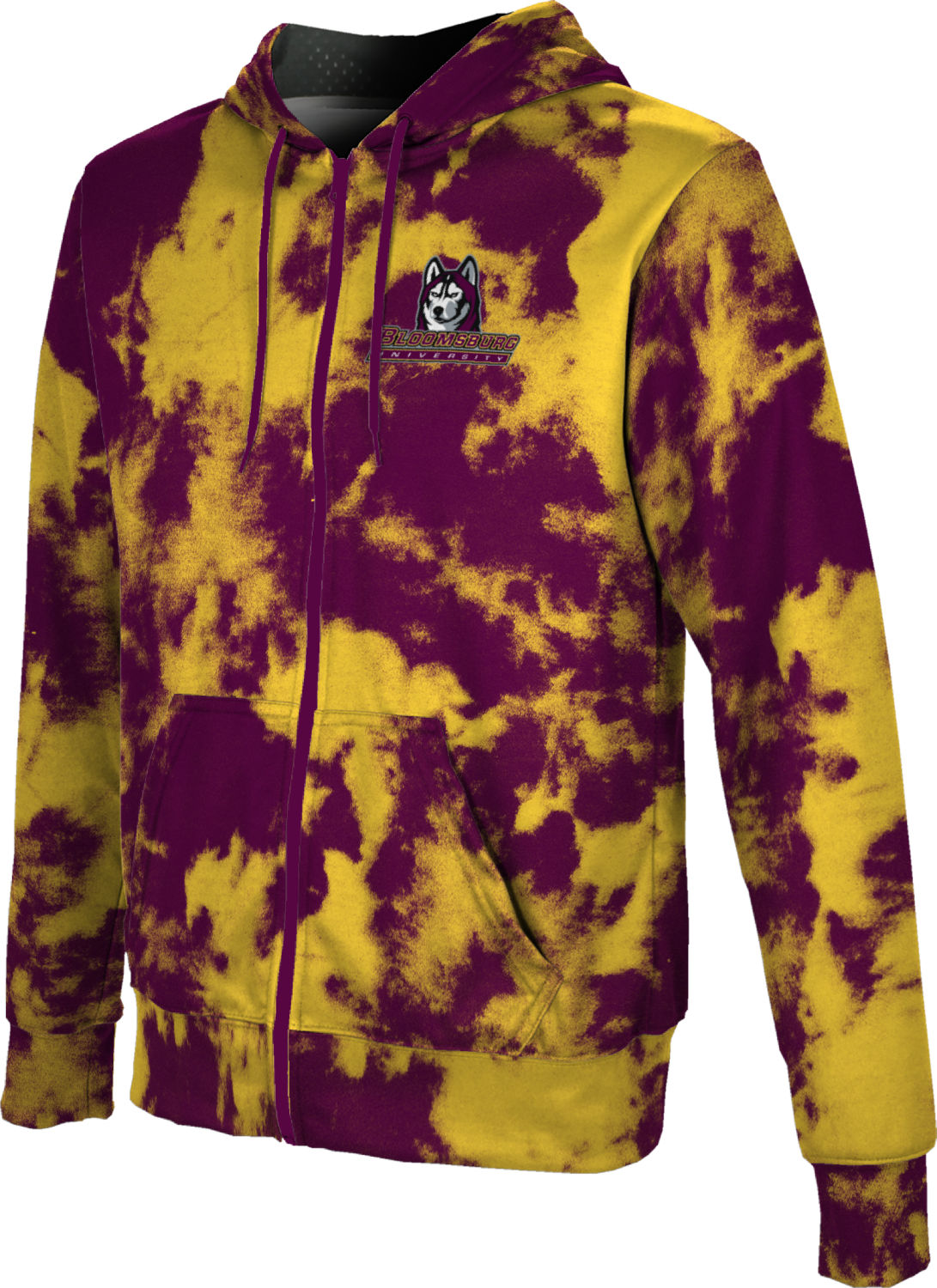 Men/'s Western State Colorado University Ripple Fullzip Hoodie Apparel