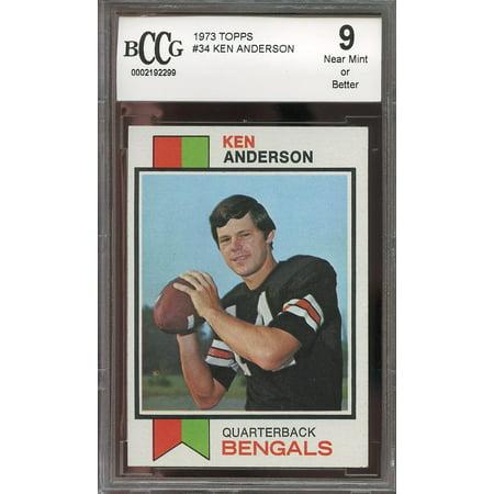 1973 Topps  34 Ken Anderson Cincinnati Bengals Rookie Card Bgs Bccg 9