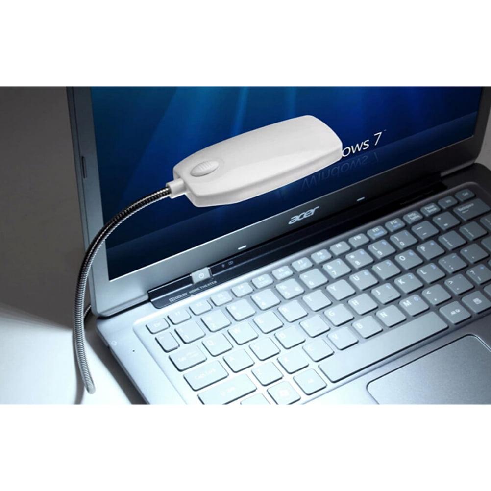 Home Desktop Flexible Gooseneck 28 LED Lights USB Reading Lamp for Notebook Laptop Computer White by