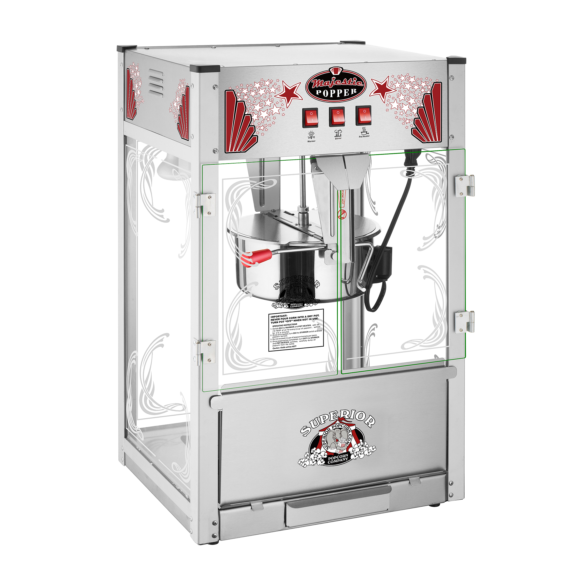 Superior Popcorn | Majestic 16 Ounce Commercial Style Popcorn Popper Machine