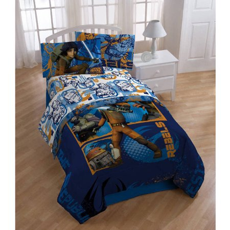 3pc Twin Bed Sheet Set Rebels Fight Bedding Accessories - Star Wars
