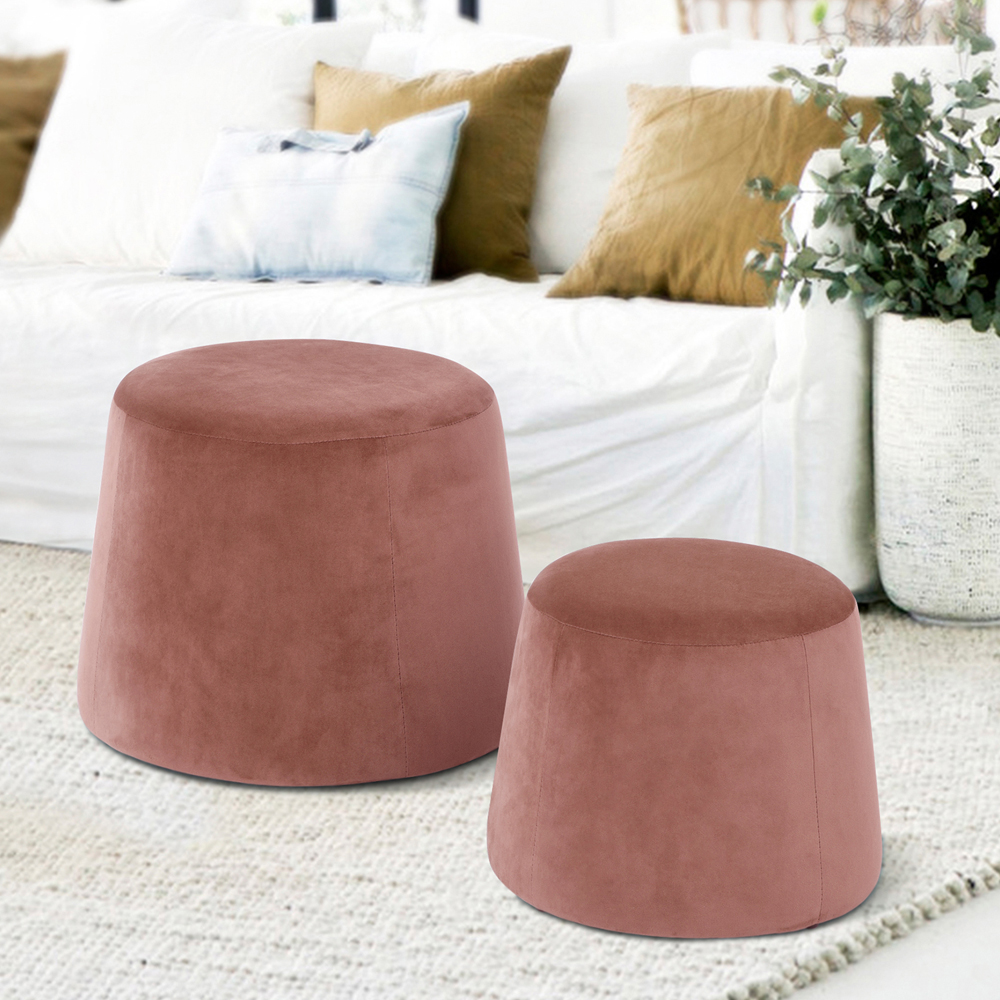 Incroyable Homycasa Round Ottoman, Fabric Ottoman Without Storage, Fabric Round Accent  Chair, Furniture Round