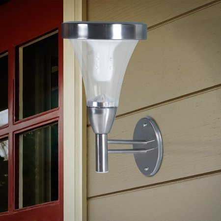 Outdoor Wall or Post Mount Solar Lights - Set of 2 by Pure Garden (Lighting Wall Light Post Mount)