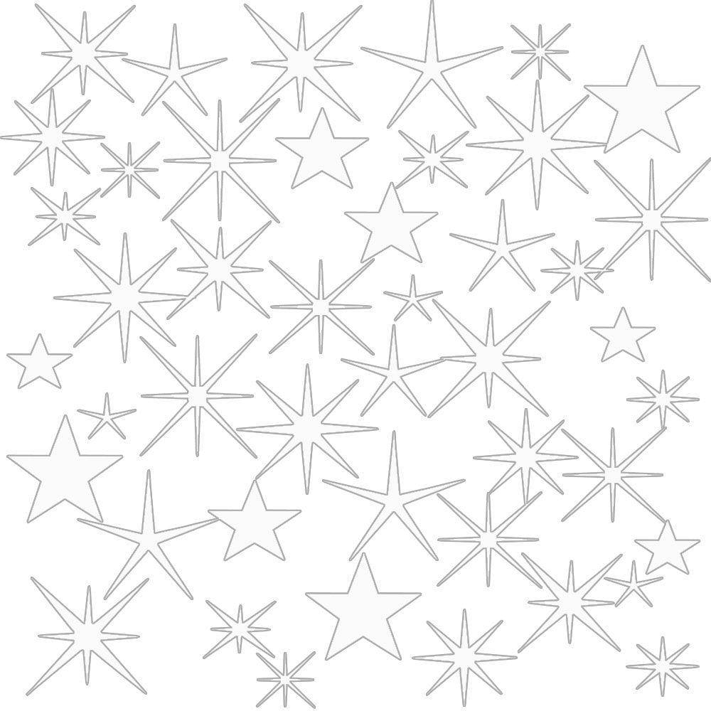 VWAQ Wall Sticker Art Clings - Assorted Stars Vinyl Decal, Peel And Stick VWAQ (Red)
