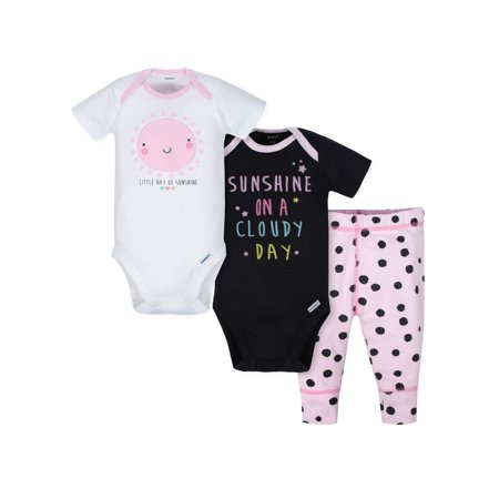 1c47adcbed48 Gerber - Short Sleeve Bodysuits and Active Pant Outfit Set