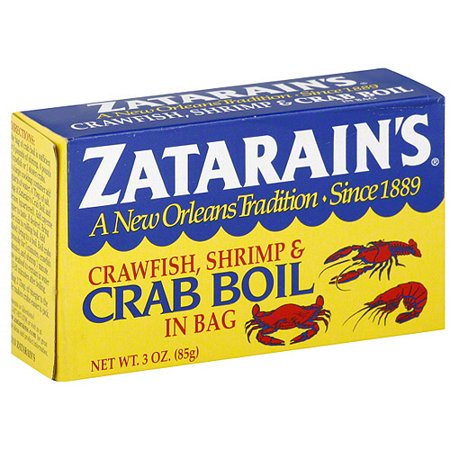 Zatarain's Shrimp & Crab Boil Seasoning, 3 Ounce Box - Louisiana Shrimp Creole