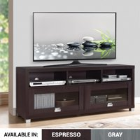 """Techni Mobili 58"""" Durbin TV Stand for TVs up to 75"""", Espresso or Grey Wood"""