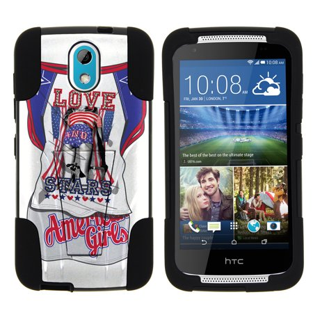 HTC Desire 526G STRIKE IMPACT Dual Layer Shock Absorbing Case with Built-In  Kickstand - Chihuahua White Tennis Dress