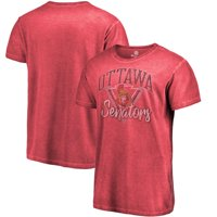 Ottawa Senators Fanatics Branded Shadow Washed Retro Arch T-Shirt - Red