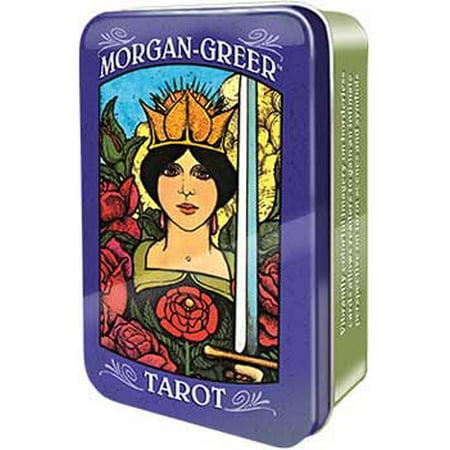 Party Games Accessories Halloween Séance Tarot Cards Morgan Greer in Tin Keepsake Box by Bill Greer - Joseph Morgan Halloween