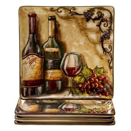 Fleur De Lis Living Janet Dinner Plate (Set of 4) ()